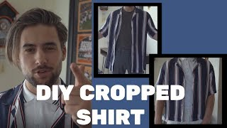 DIY CROPPED SHIRT | HOW TO SHORTEN A SHIRT | DIY DESIGNER INSPIRED SHIRT