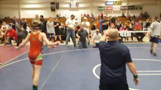 Crazy wrestling dad stormed onto the mat and started screaming