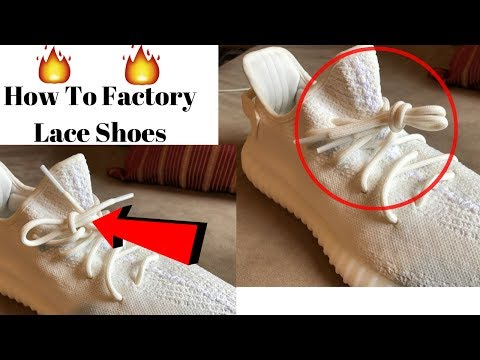How To Factory Lace Shoes (Tutorial)