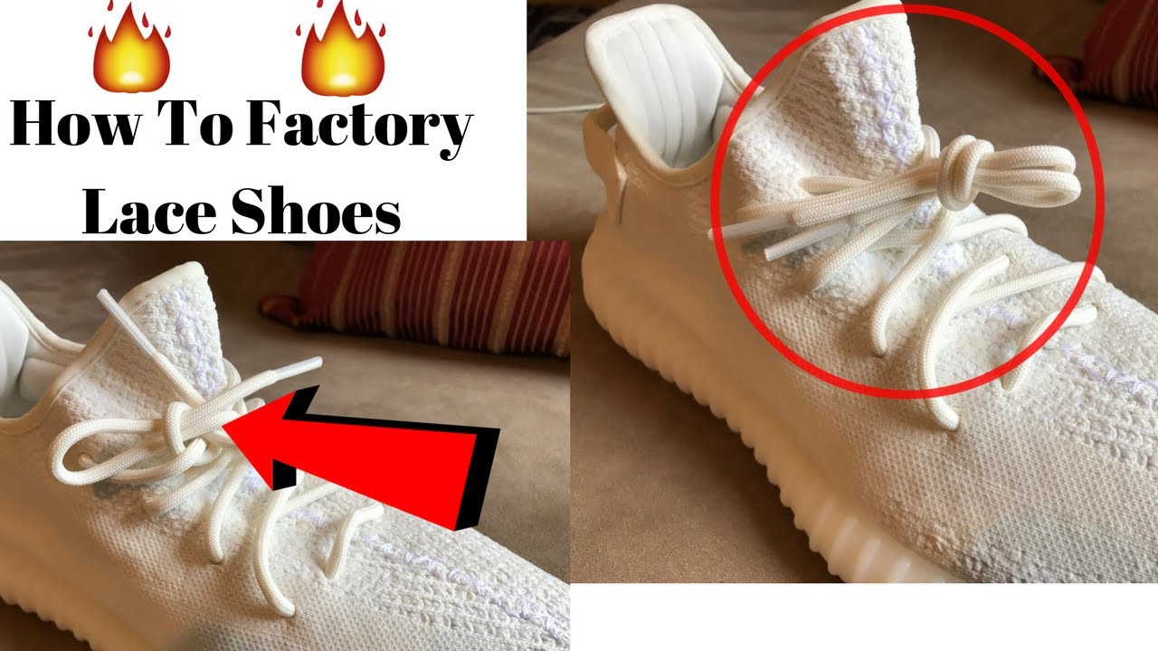 9c1a353765c7 How To Factory Lace Shoes (Tutorial) - YouTube