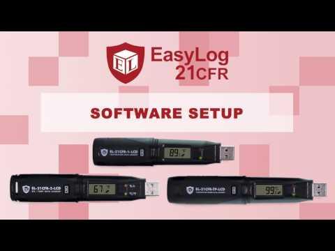 EasyLog 21 CFR USB Data Logger Software Setup from Lascar Electronics