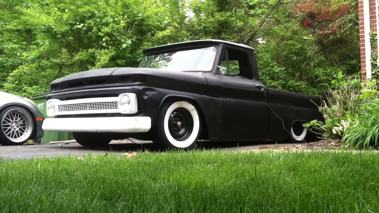 Build My Chevy Truck 1966 Chevy C10 bagged on Accuair - YouTube
