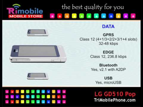 LG GD510 Pop Mobile Phone Specification, Features and Slide show