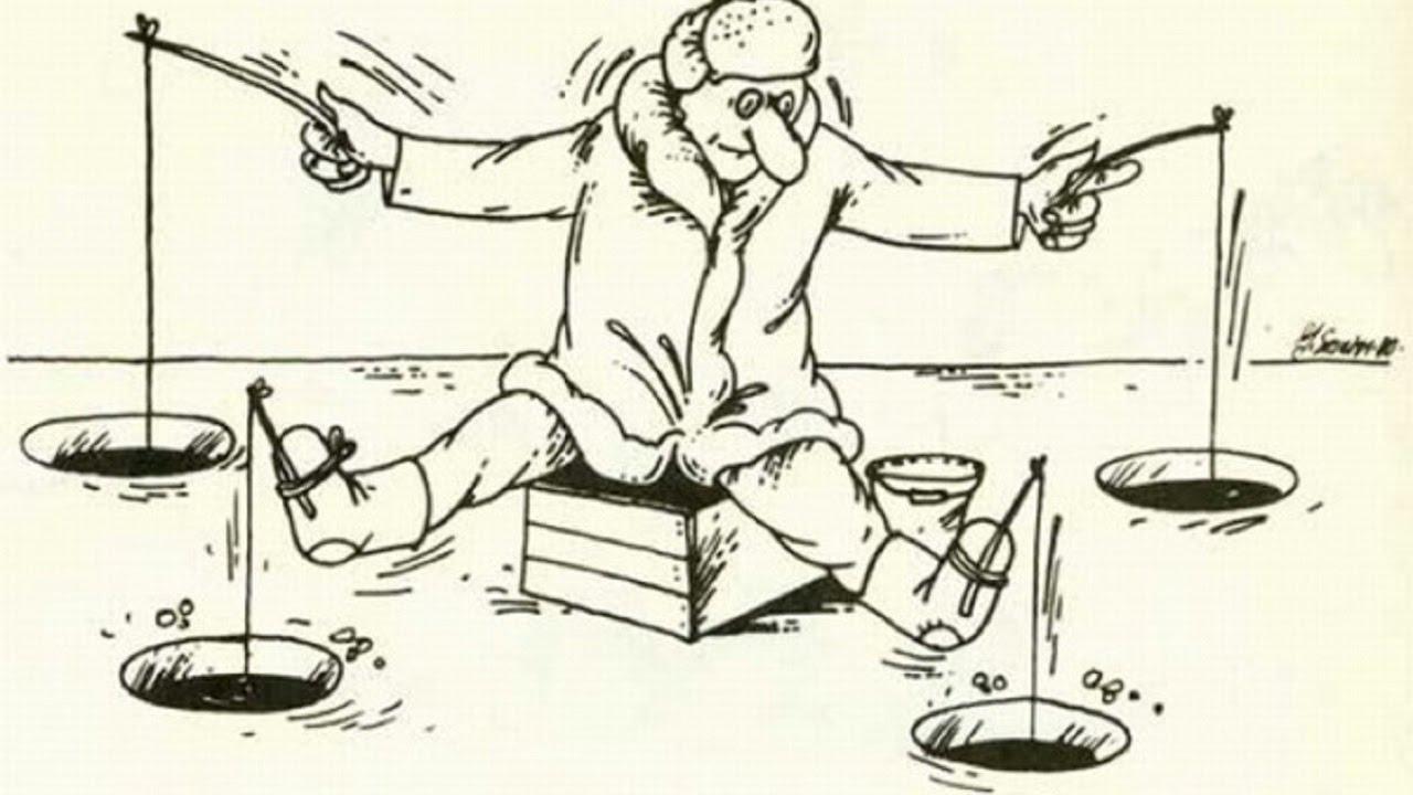 Христос воскрес, смешные рисованные картинки про рыбалку