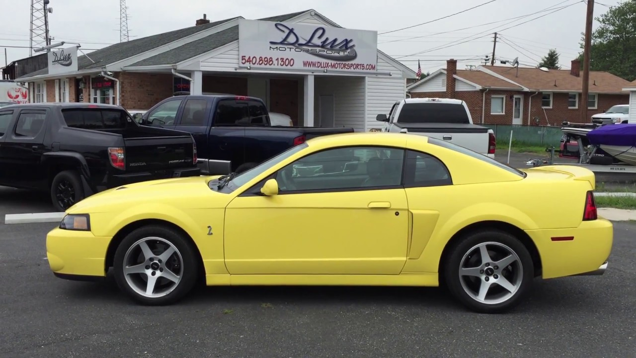 2003 ford mustang cobra for sale only 4900 original miles www dlux motorsports com