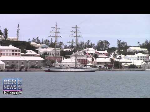 Tall Ship Fryderyk Chopin Arrives In Bermuda, March 22 2015