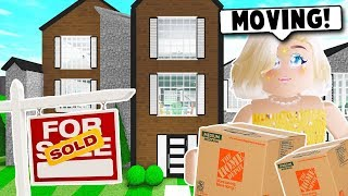 MOVING TO MY NEW HOUSE ON BLOXBURG! HOUSE TOUR! (Roblox)