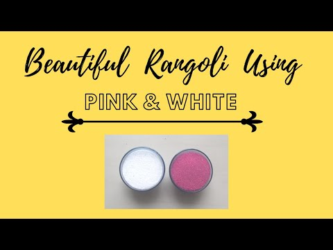     Simple Rangoli Design Using White And Pink Color    Shradz Happy Place   