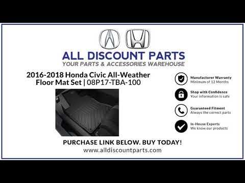 2016-2018 Honda Civic All-Weather Floor Mat Set | 08P17-TBA-100