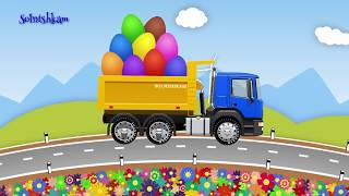 Машинки - Развивающий мультик - Грузовичок - Яйца с сюрпризом - Учим фрукты и ягоды
