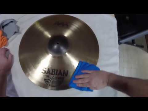 Cleaning cymbals with PLEDGE!!