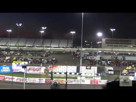 305/360 sprint car driver McKenna Haase at Knoxville Raceway 2016