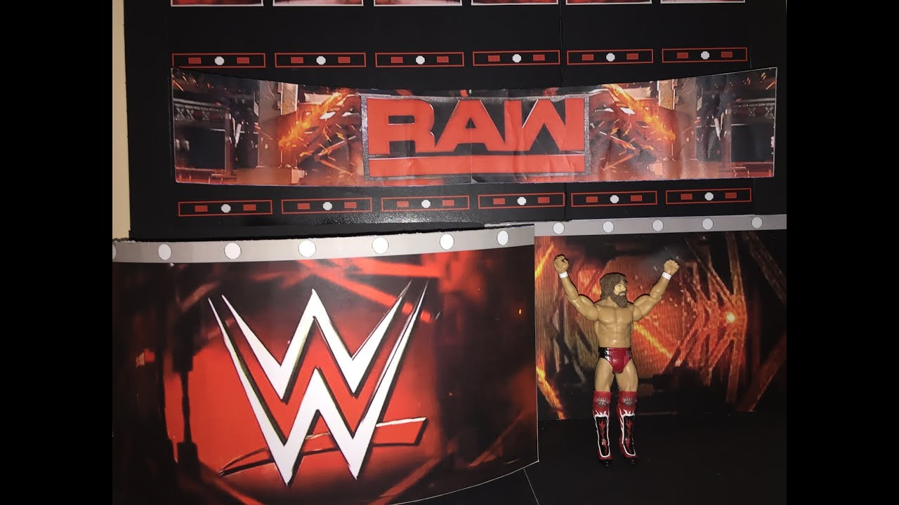 how to make custom wwe raw stage for action figures youtube