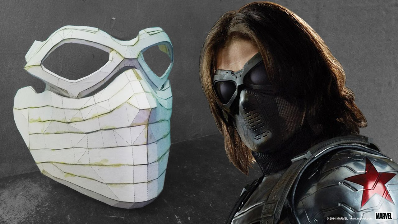 The Winter Soldier Mask from Cardboard (Part 1) - YouTube