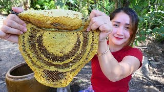 Yummy Honey Comb Grilling Recipe - Honey Comb Cooking - Cooking With Sros