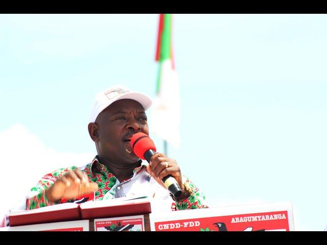 #EjohezaNews: Umukuru w'igihugu arashimira abarundi bamubaye hafi ku ntwaro yabivugiye ETS kamenge