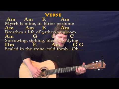 We Three Kings (Christmas) Fingerstyle Guitar Cover Lesson in Am with Chords/Lyrics