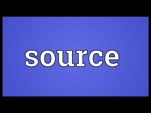 Source Meaning