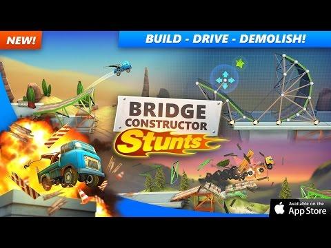 Bridge Constructor Stunts - iOS Release Trailer