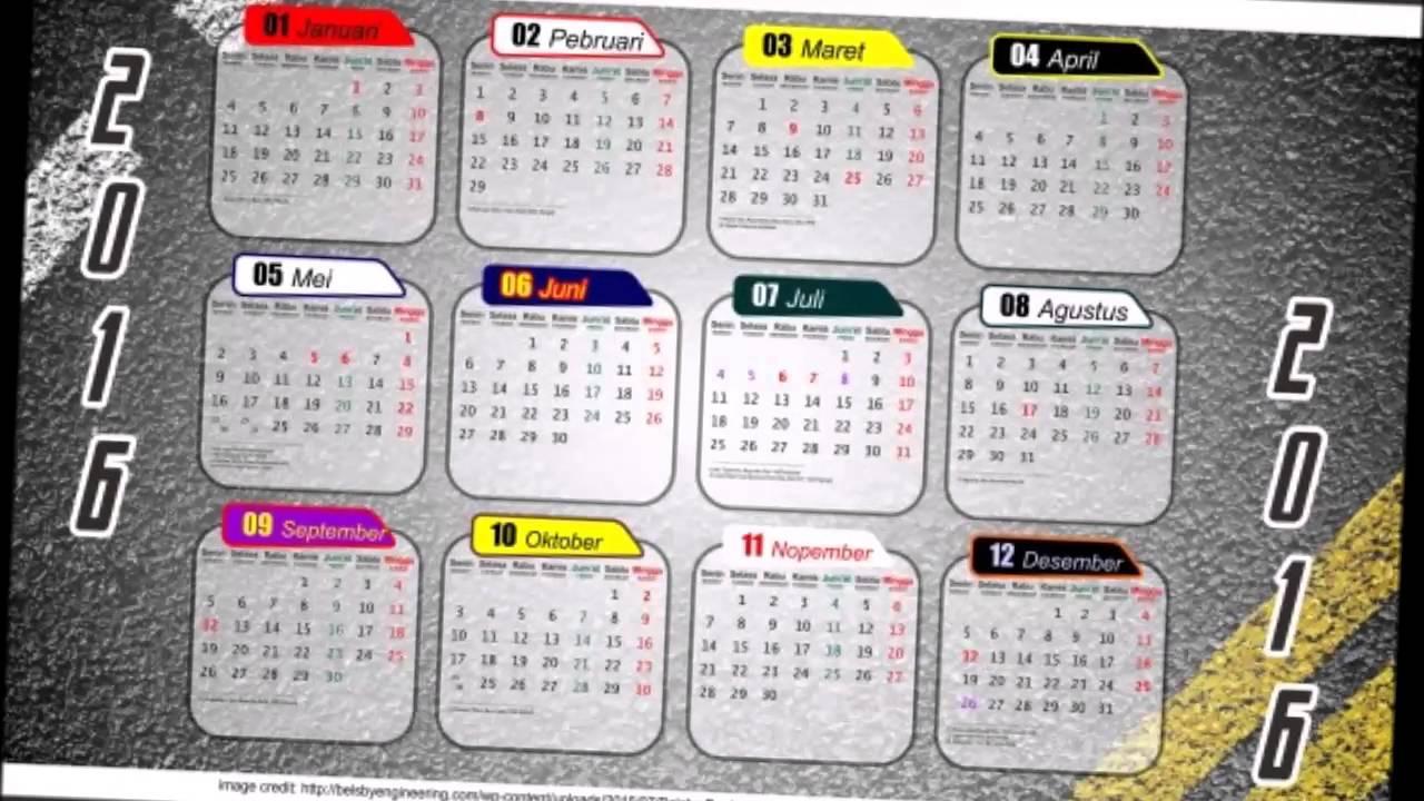 Desain Kalender 2016 Free Download Vector CDR PDF Jpg ...
