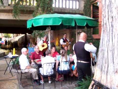 Live music along the San Antonio River Walk