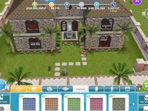 the sims freeplay - astounding creativity ~ pools and houses - youtube