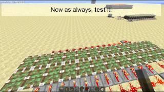 Minecraft: How to: Hidden Bridge (Draw Bridge)