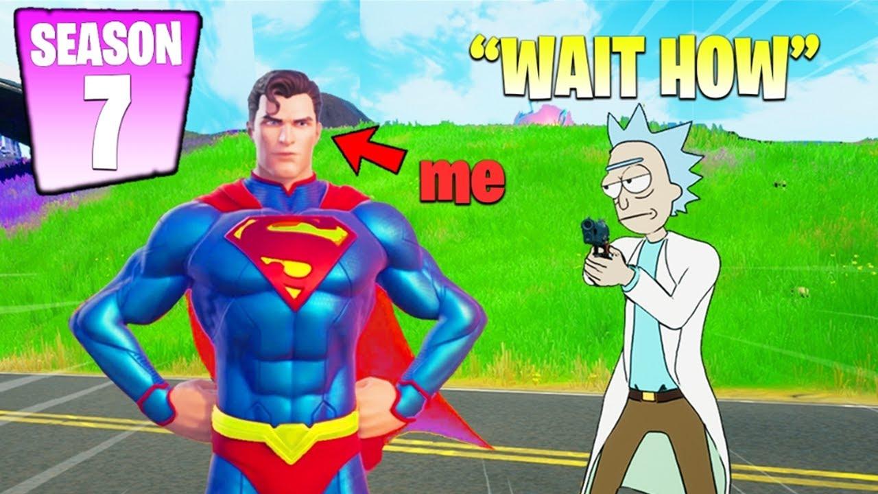 I Pretended I Got SUPERMAN Skin EARLY (Season 7)