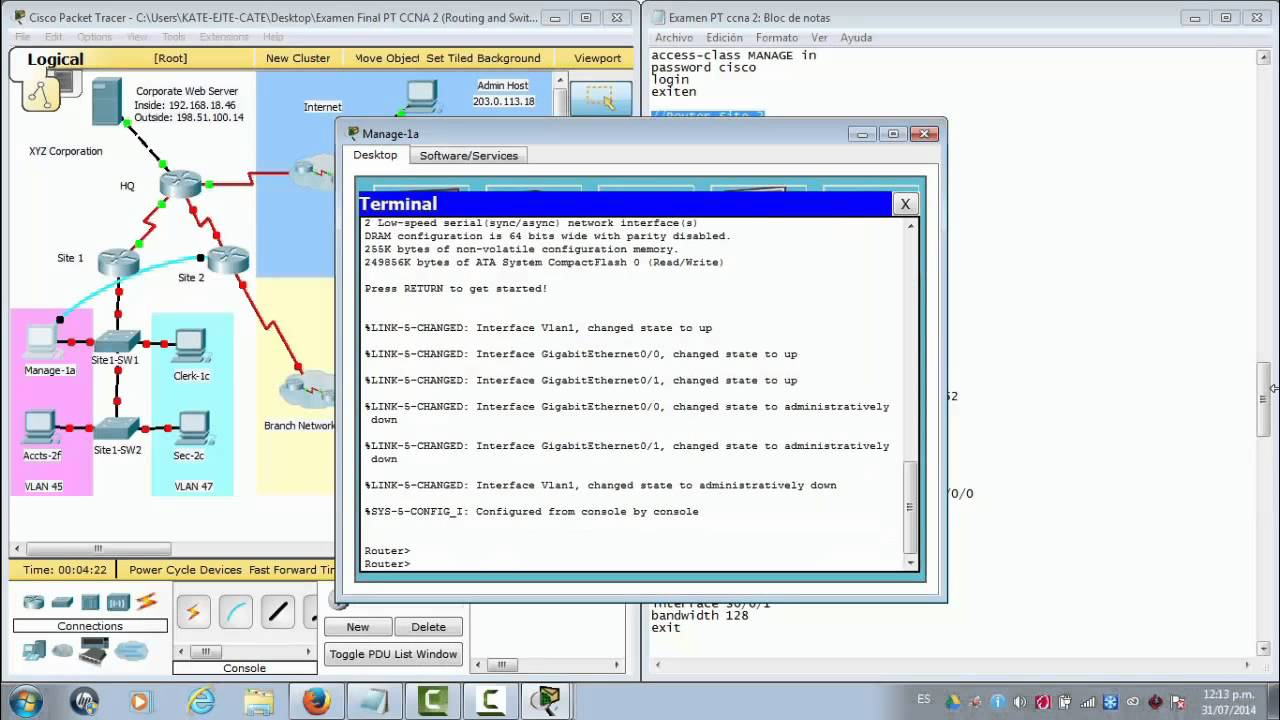 Packet Tracer Final CCNA 2 R&S Version 5.0 | Doovi