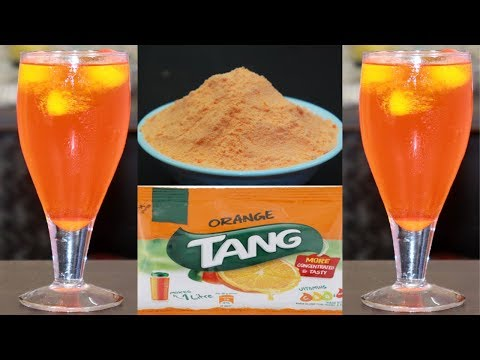 Orange Tang घर पर बनाये 1मिनट में | Homemade ORANGE TANG (Premix)Recipe- Instant Energy Summer Drink