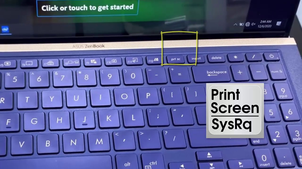 How to take a screenshot on Asus ZenBook laptop - YouTube
