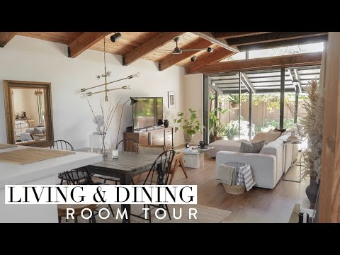 Living Room & Dining Room Tour | Gemary