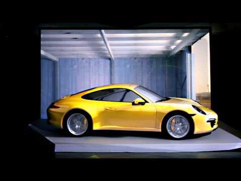 Porsche 911 projection: evoking emotions from a standstill
