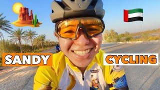 SANDY CYCLING IN UAE | nakakita ng camel sa daan |by GAYE PARIS