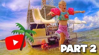 DOUBLE-DECKER BOAT with DOUBLE WATER SLIDES! (Families Reunited: PART 2)
