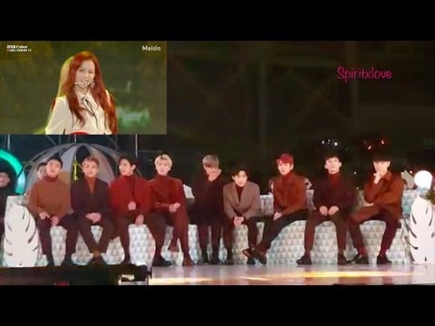 Exo reaction to Blackpink [MMA] 2016 fancams