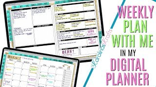 July 8 to 14 Digital Plan with Me, Setting Up Weekly Digital Plan With Me July 8
