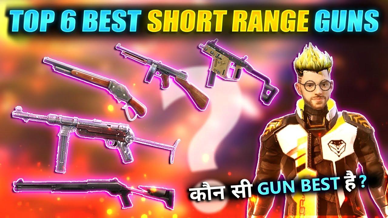 TOP 6 BEST GUNS IN SHORT RANGE || Total Explain || FireEyes Gaming || Garena Free Fire