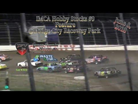 IMCA Hobby Stocks #9, Feature, Dodge City Raceway Park, 06/08/18