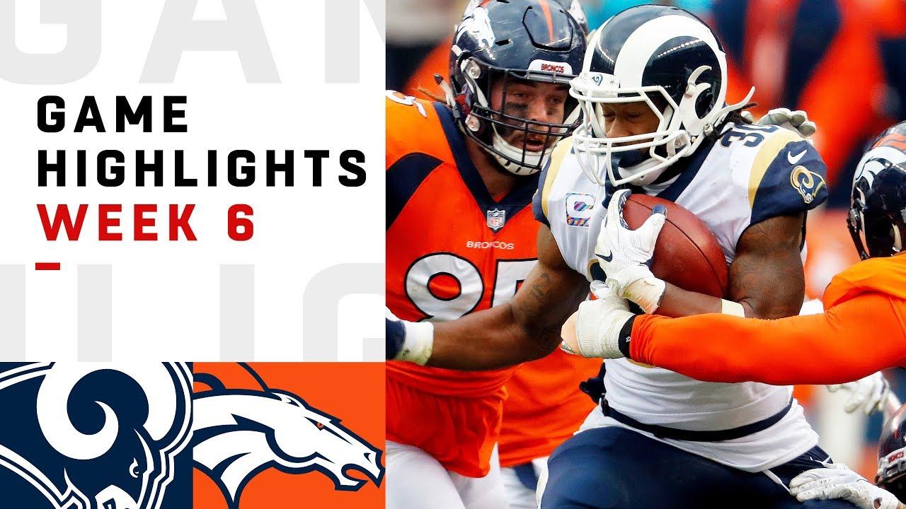 Rams vs. Broncos Week 6 Highlights | NFL 2018