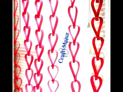 DIY: Decoración Para  San Valentin- Corazónes para decorar la habitación para San valentin