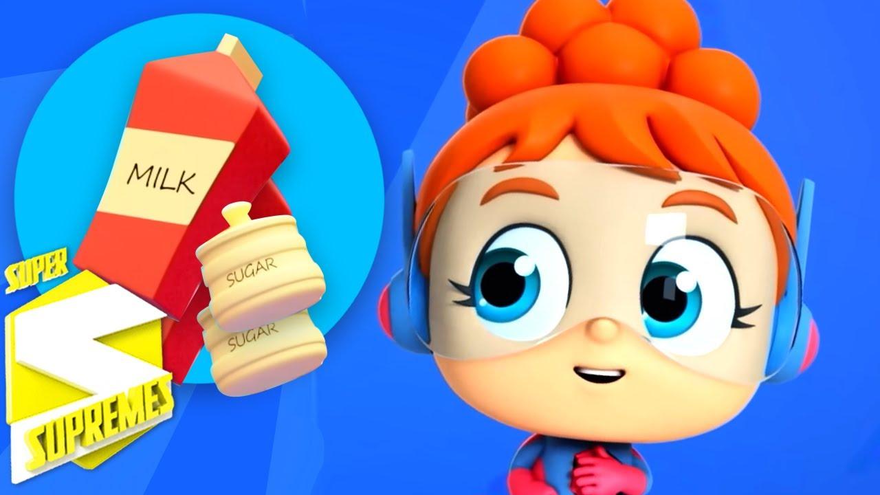 No no canción | Dibujos animados | Rimas para niños | Super Supremes Español | Educación
