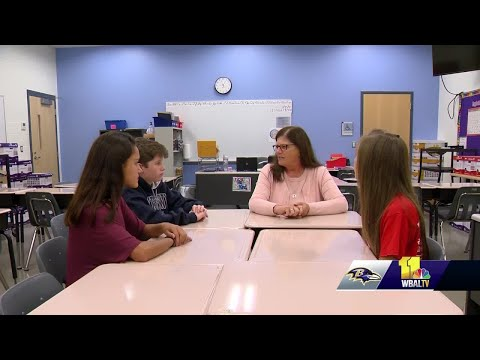 Bennett Middle School Honor Society students to sit in Ravens Honor Row