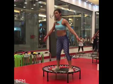 This trampoline fitness class looks INSANE! 🔥💦💪
