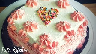 Simple Instant No Egg Stove Top Red Velvet Cake    Salu Kitchen