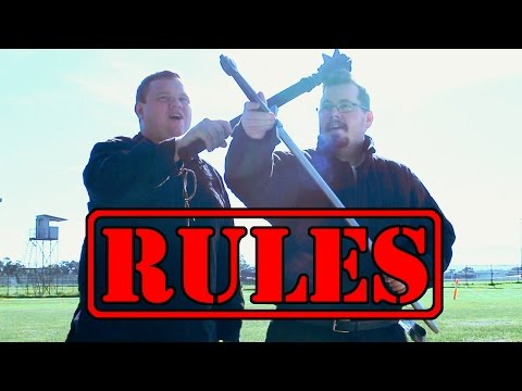 The rules of LARP (Live Action Role Playing)