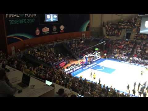 Iberostar Tenerife vs Banvit BK Basketball Champions League Final Introductions