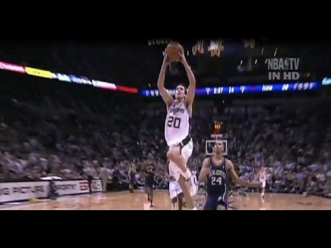 Rookie Manu Ginobili vs New Jersey Nets - FULL highlights - G6 2003 NBA FInals