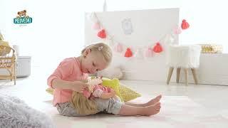 Bábika Alice s dlhými hnedými vlasmi Mon Grand Pou