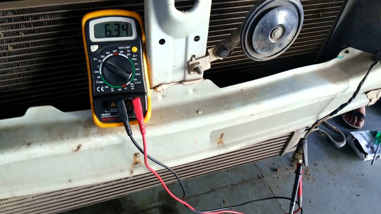 hight resolution of duster horn testing by multimeter